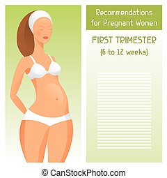 Recommendations for pregnant women in first trimester of...