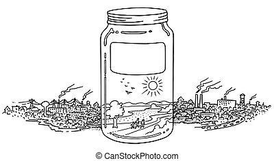 A jar full on clean environment