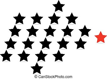 vector leadership concept with stars