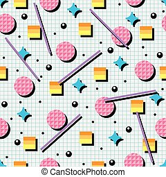 vector seamless 80s or 90s background pattern