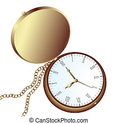 pocket watch - Vintage pocket watch amd chain