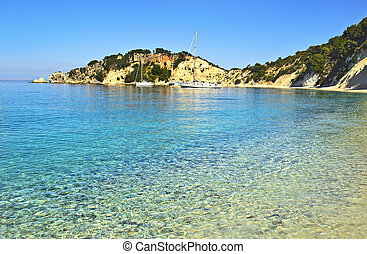 beach at Ithaca Greece - beach at Ithaca Ionian islands...