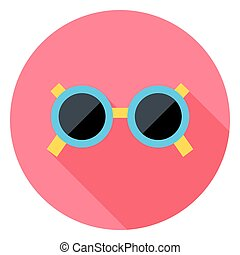 Sun Glasses Circle Icon