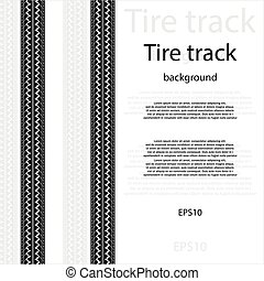 Tire track with text