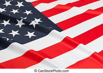 Series of ruffled flags - USA - Flag blowing in the wind...