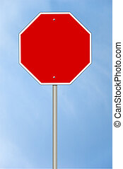 Blanks stop sign
