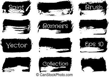 Brush Paint Collection - Black Silhouettes Brush Paint...