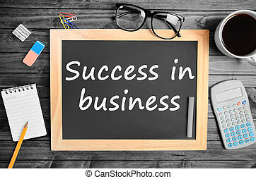 Success in business words