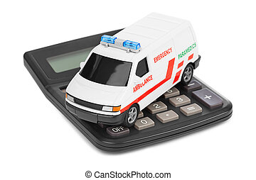 Calculator and toy medical car