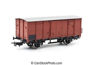 Cargo wagon - isolated on white background