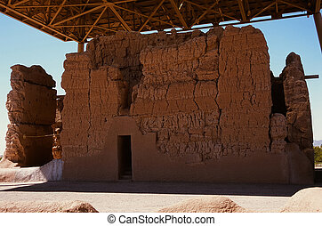 Casa Grande Ruins National Monument of the Precolumbian...