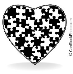 Broken heart - Vector illustration with the image of the...