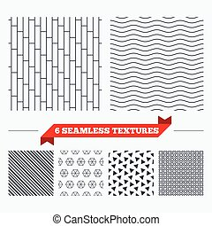 Cobbles grid stripped seamless pattern - Diagonal lines,...