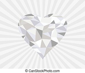 diamond heart  - vector diamond heart