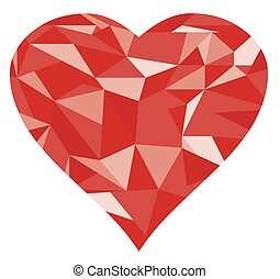 diamond heart - vector geometrical diamond heart