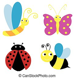 insects - vector insects cartoon
