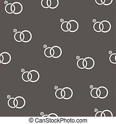 seamless rings - vector seamless wedding rings background
