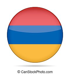 button with flag of Armenia - button with national flag of...