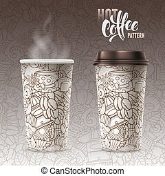 Paper Cups - Set of Disposable Paper Cups with Plastic...