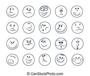 Set of smiles