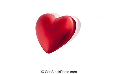 red heart with mirror reflection - Holiday heart...