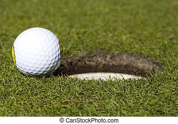 Close  - So close; golf ball close to hole