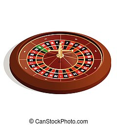 Roulette wheel. 3d image. Realistic casino gambling roulette wheel isolated on white background vector illustration