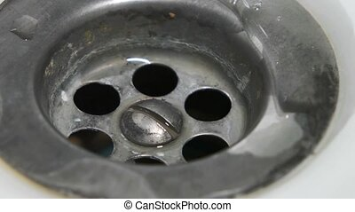 Sink drain water - Interception of the water flow, Sink...