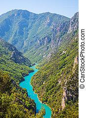 Emerald water canyon Verdon - Canyon of Verdon, Provence,...