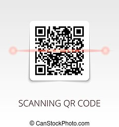 sample qr code ready to scan. with shadow sticker