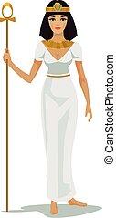 Egypt Queen Cleopatra. Vector flat illustration