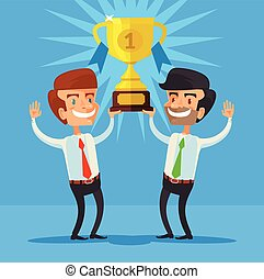 Winners Vector flat illustration