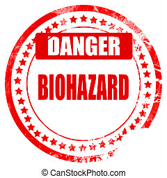 Biohazard sign background