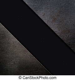 Metal and carbon fibre background - Grunge metal and carbon...