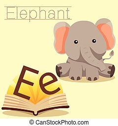 Illustrator of E for Elephant vocab