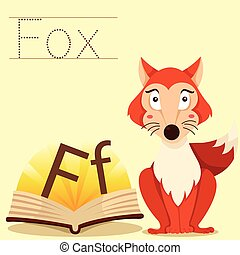 Illustrator of F for Fox vocabulary