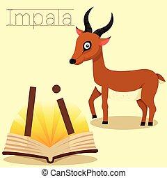 Illustrator of I for Impala vocabulary