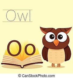 Illustrator of O for Owl vocabulary