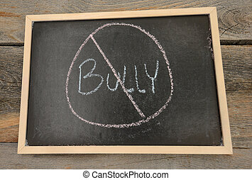 Anti-bullying or no bullying concept - No bullying written...