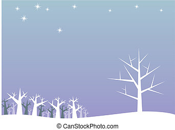 white trees - fully editable vector illustration of white...