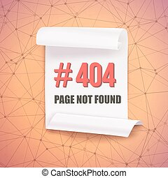 Error 404 Futuristic Wireframe Vector Banner Page Not Found...