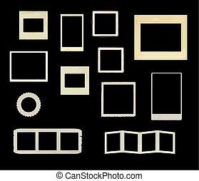 vintage frames vector - a variety of vontage frames in...