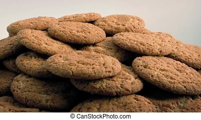 Plate Of Ginger Biscuits Rotating