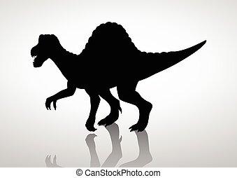 Spinosaurus - Silhouette illustration of a spinosaurus