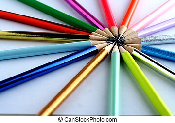 Sharpened Colorful Pencils - Photo of sharpened colorful...
