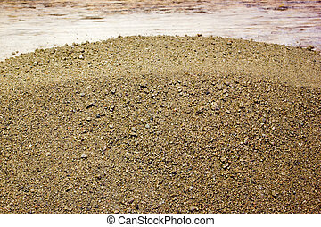 The sand texture as a background