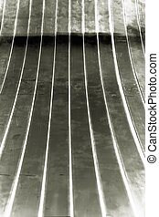 line up metal curve - abstract of line up metal curve for...