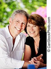 Beautiful mature couple - Bright lifestyle portrait of a...