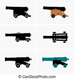 Old cannons, shade pictures