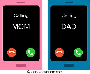 Incoming calls - Two mobiles with incoming calls